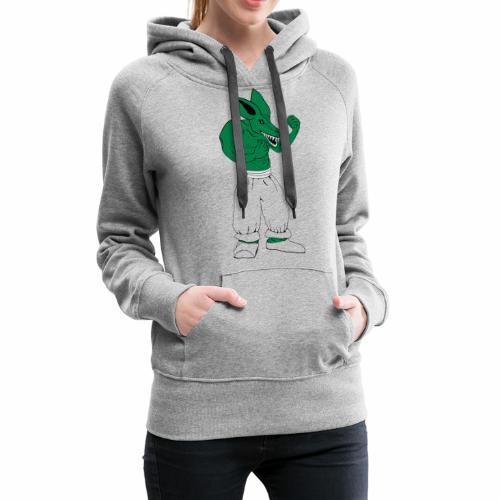 T-shirt Bad rat de combat - Sweat-shirt à capuche Premium pour femmes