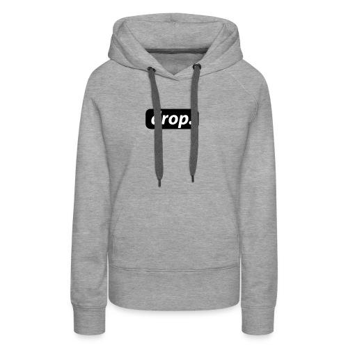 T-shirt basique DROP - Sweat-shirt à capuche Premium pour femmes