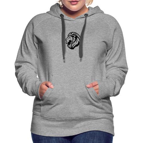 león - Sudadera con capucha premium para mujer