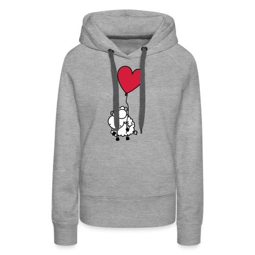 Liebes Schaf - mit Herz Ballon - Frauen Premium Hoodie