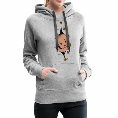Design 1 baby without smile buttons right - Sweat-shirt à capuche Premium pour femmes