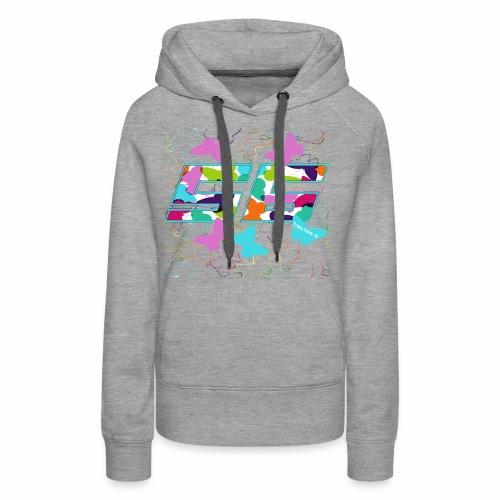 Dorsal mariposas de colores - Sudadera con capucha premium para mujer