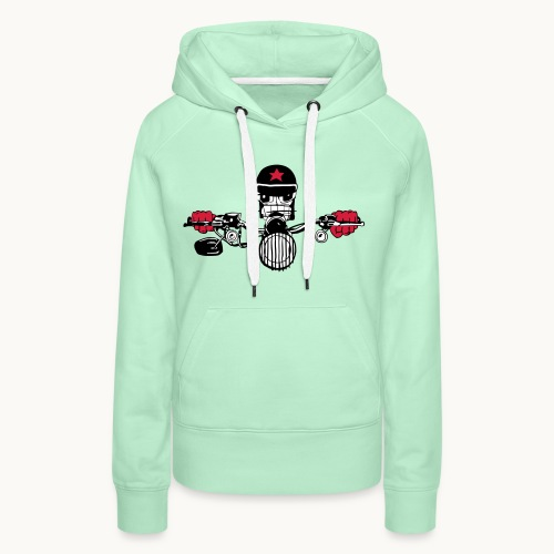 Motard Micky on the Road - Sweat-shirt à capuche Premium pour femmes