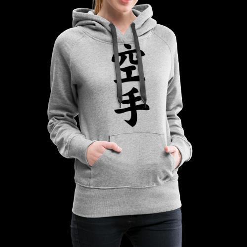 karate - Bluza damska Premium z kapturem