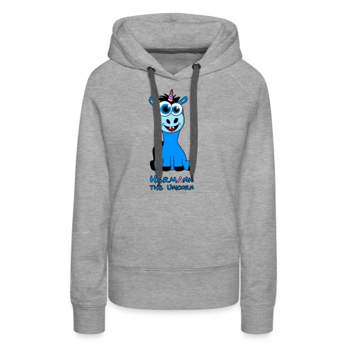Hermann the Unicorn front - Frauen Premium Hoodie