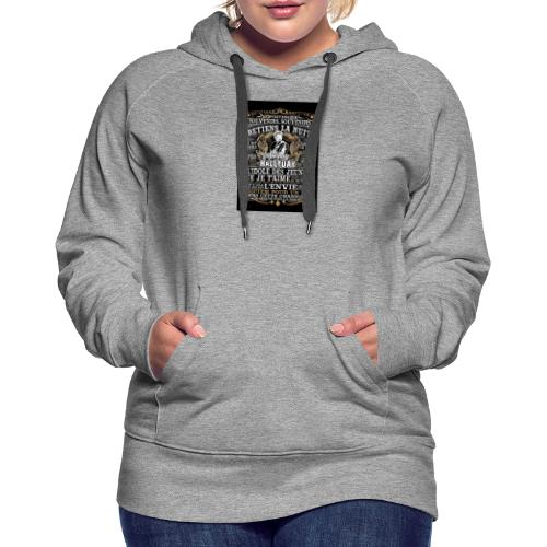 Johnny hallyday diamant peinture Superstar chanteu - Sweat-shirt à capuche Premium pour femmes