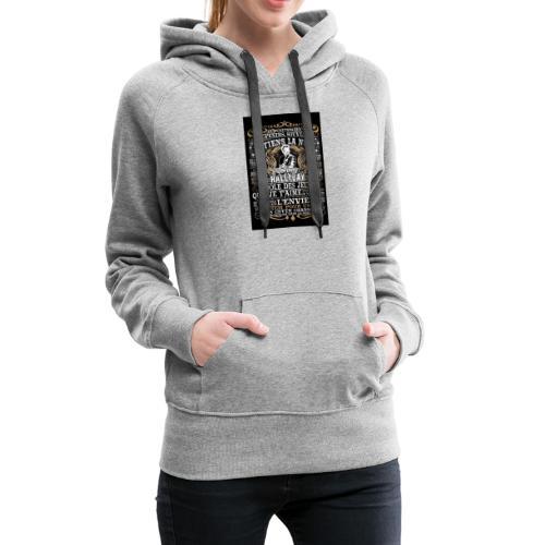 Johnny hallyday diamant peinture Superstar chanteu - Sweat-shirt à capuche Premium pour femmes