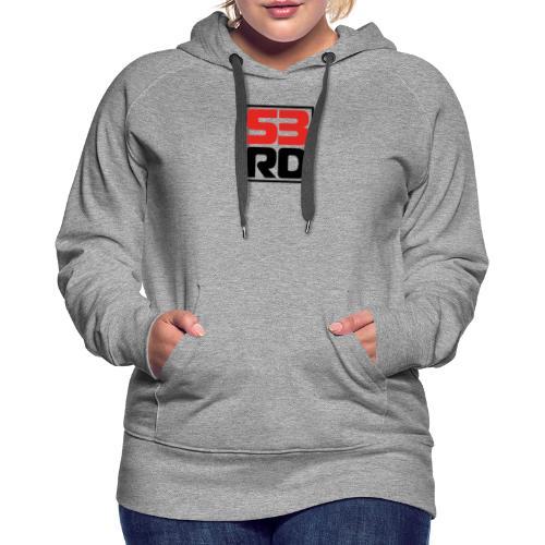 53RD Logo kompakt umrandet (schwarz-rot) - Frauen Premium Hoodie