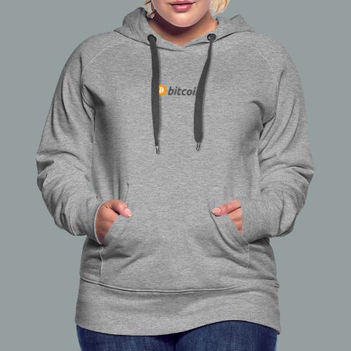 Bitcoin Logo #BTC - Sudadera con capucha premium para mujer