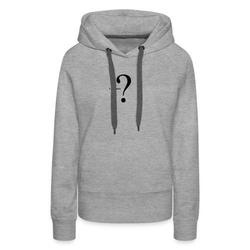 Point d'interrogation L'inconnu - Sweat-shirt à capuche Premium pour femmes