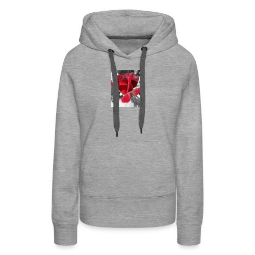 flower - Sudadera con capucha premium para mujer