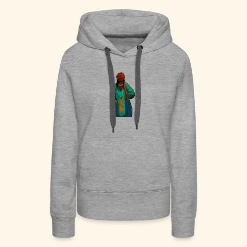 Femme avec sac motif - Sweat-shirt à capuche Premium pour femmes