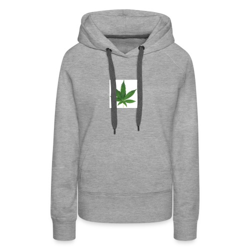 sticker feuille de cannabis - Sweat-shirt à capuche Premium pour femmes