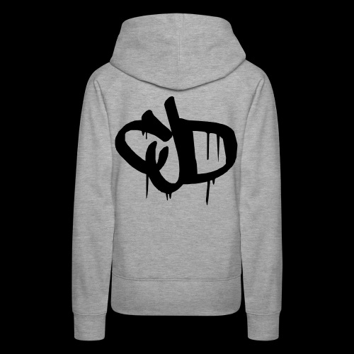 Dripping blood CJD logo - Women's Premium Hoodie