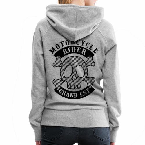 Motorcycle Rider Grand-Est - Sweat-shirt à capuche Premium pour femmes