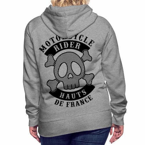 Motorcycle Rider Hauts-de-France - Sweat-shirt à capuche Premium pour femmes