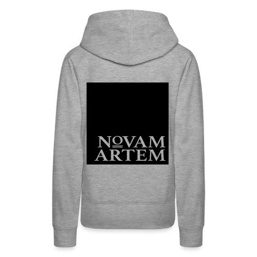 NOVAM ARTEM BLACK SQUARE - Dame Premium hættetrøje