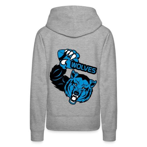 Wolves Rugby - Sweat-shirt à capuche Premium pour femmes