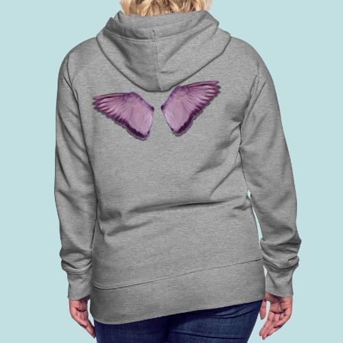 Angel wings print - Women's Premium Hoodie
