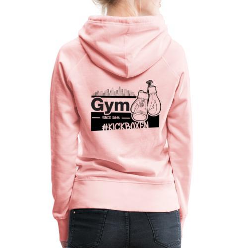 Gym in Druckfarbe schwarz - Frauen Premium Hoodie