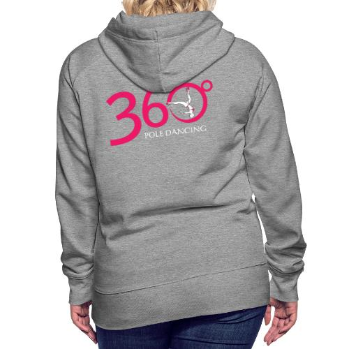 360 Pole Logo w White Writing - Women's Premium Hoodie