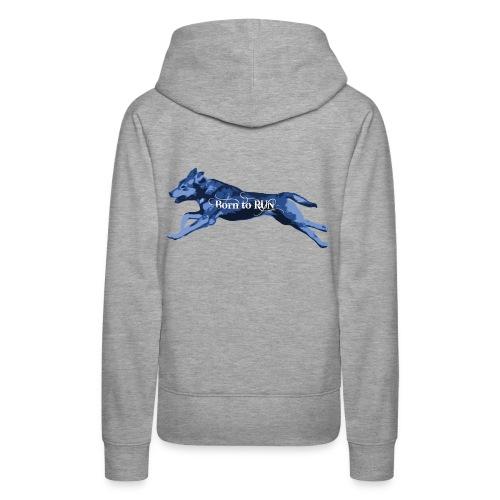 Born_to_Run---light-blue.png - Frauen Premium Hoodie