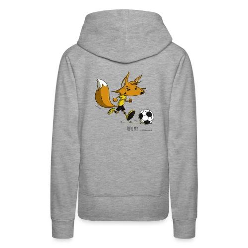 Valmy mascotte - Sweat-shirt à capuche Premium pour femmes