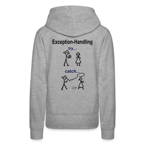 Try-Catch-Java-Code - Frauen Premium Hoodie