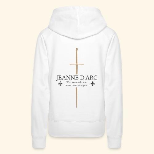 Jeanne d arc dark - Frauen Premium Hoodie