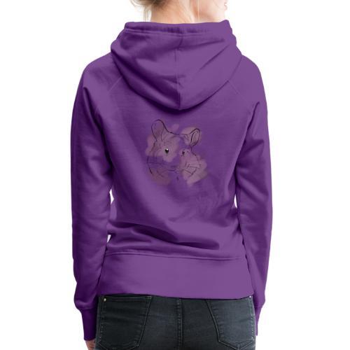 Violet splash chinchilla - Naisten premium-huppari