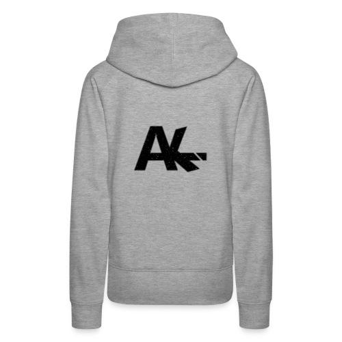 Logo de la team AIKE style trait blanc - Sweat-shirt à capuche Premium pour femmes
