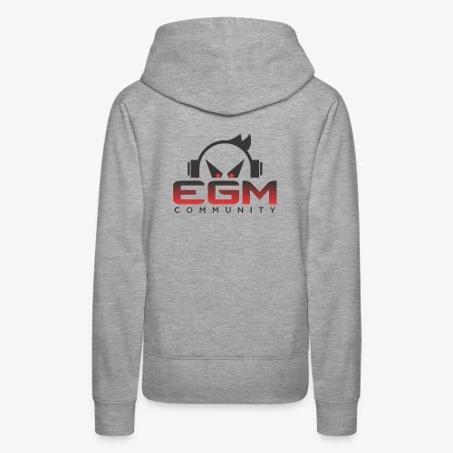 Logo EGM-Community - Sweat-shirt à capuche Premium pour femmes