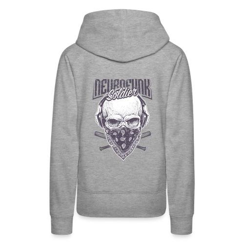 neurofunk soldier - Sweat-shirt à capuche Premium pour femmes