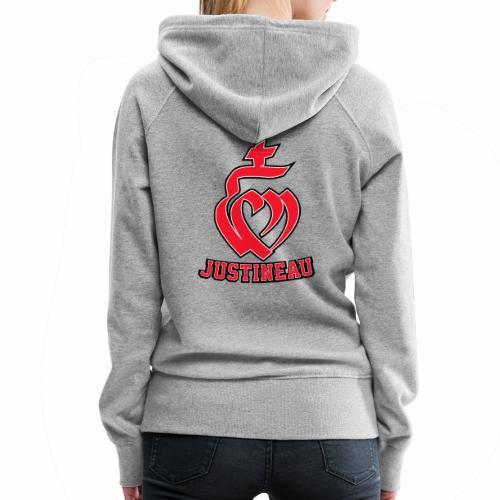 Martineau Coeur - Sweat-shirt à capuche Premium pour femmes