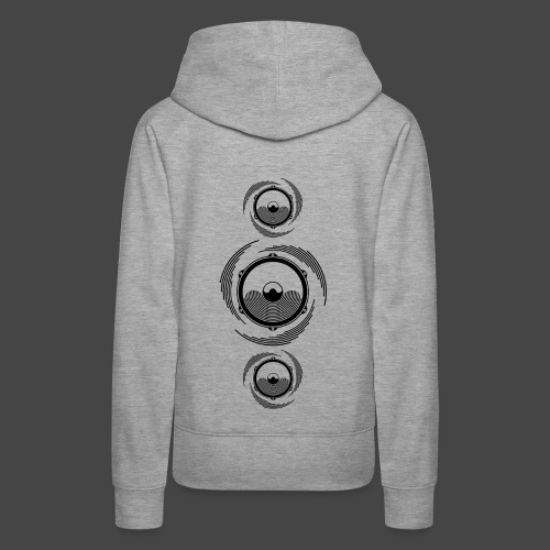 Haut-parleur Noir Spirale - Sweat-shirt à capuche Premium pour femmes