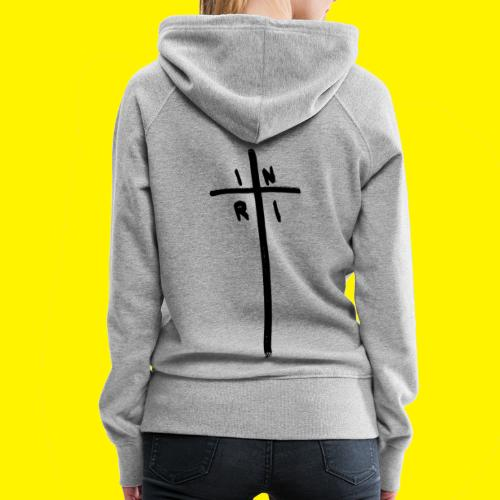 Cross - INRI (Jesus of Nazareth King of Jews) - Women's Premium Hoodie