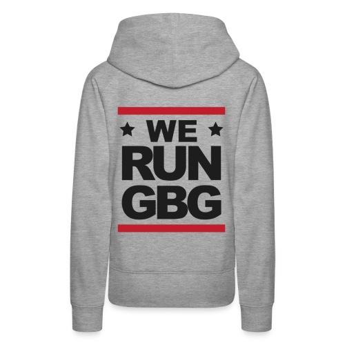 We run GBG svart tryck - Premiumluvtröja dam