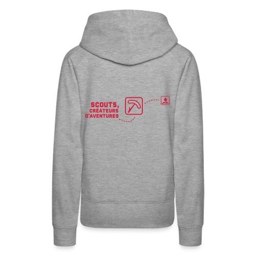 chemin - Sweat-shirt à capuche Premium pour femmes