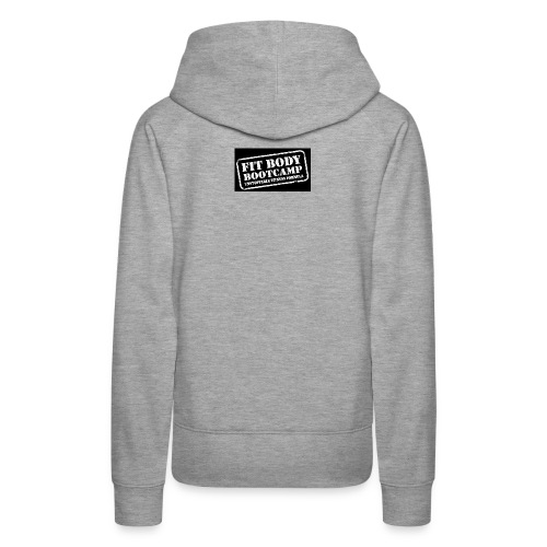 fitbodybootcamp black and white logo - Women's Premium Hoodie
