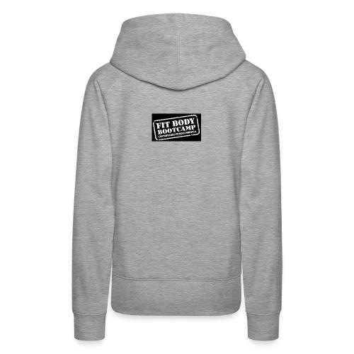 fitbodybootcamp black and white logo - Women's Premium Hoodie