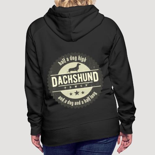Dachshund Power - Vrouwen Premium hoodie