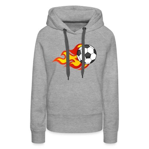 Flaming Football - Women's Premium Hoodie