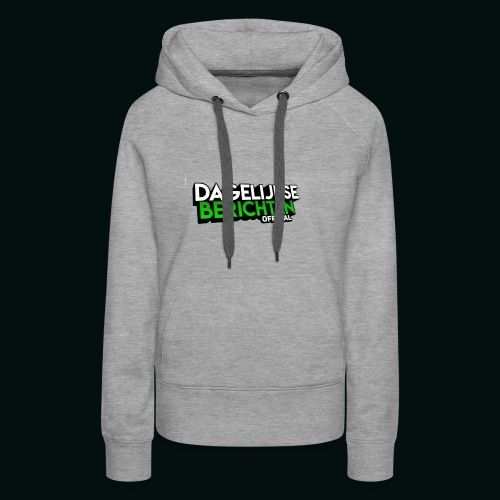 Dagelijkse Berichten Tshirt Logo v1 - Vrouwen Premium hoodie