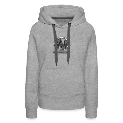 ArchitectJ_Logo_with_Slogan_-transparent_backgroun - Vrouwen Premium hoodie