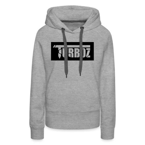 Black Turboz Background - Women's Premium Hoodie