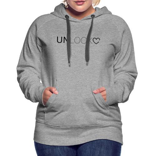 Unlock - Felpa con cappuccio premium da donna