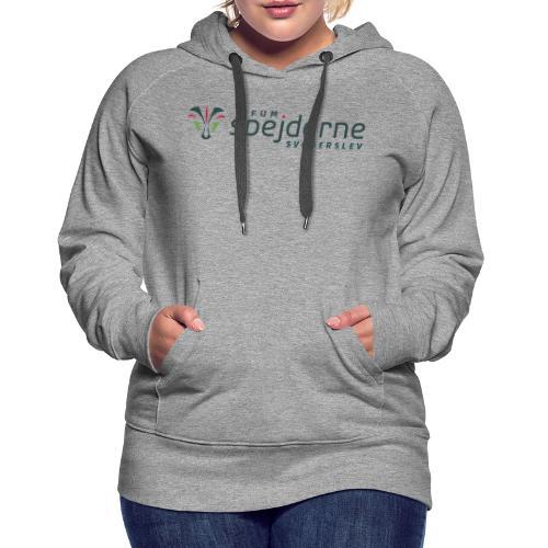 Logo i farver - Dame Premium hættetrøje