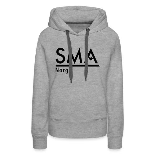 SMA Norge logo - Premium hettegenser for kvinner