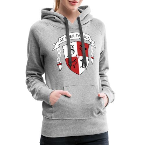 SD logo - hvide lænker - Dame Premium hættetrøje