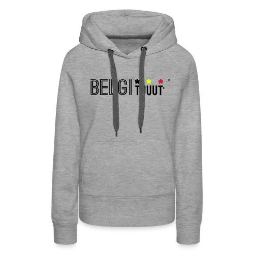 belgituuut - Sweat-shirt à capuche Premium pour femmes
